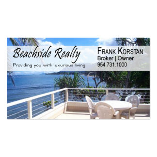 Realtors Real Estate Home Stagers Beachfront Business Card