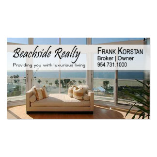 Realtors Real Estate Home Stagers Beachfront Business Card Templates