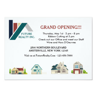 Realty Office Grand Opening Invitations