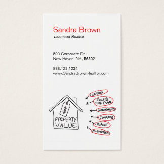 Realty Property Values Flow Chart Business Card