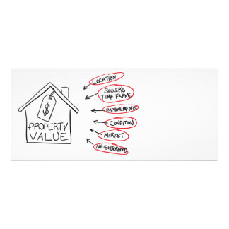 Realty Property Values Flow Chart Customized Rack Card