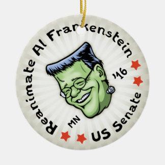 Reanimate el Al Frankenstein Adorno Navideño Redondo De Cerámica