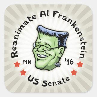 Reanimate el Al Frankenstein Pegatina Cuadrada