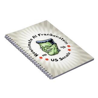 Reanimate el Al Frankenstein Spiral Notebook