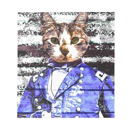 Reanudación de capitán Meow Libretas Para Notas