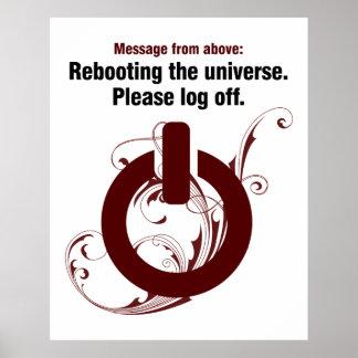 Reanudación del universo. Termine una sesión por f Impresiones