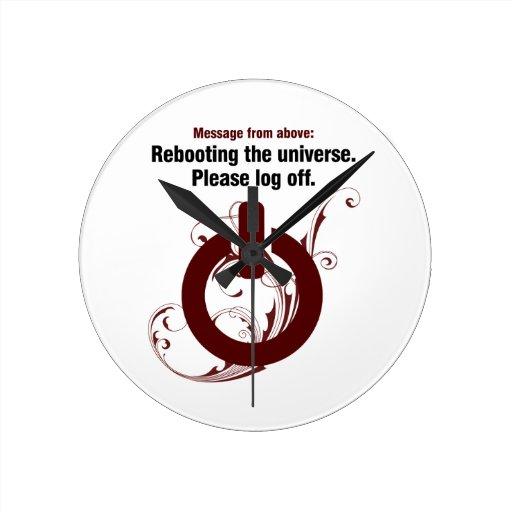 Reanudación del universo. Termine una sesión por f Reloj Redondo Mediano