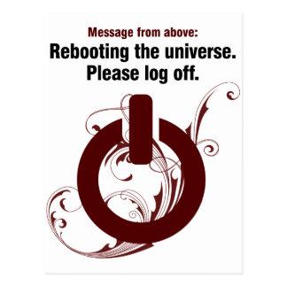 Reanudación del universo Termine una sesión por f Tarjeta Postal