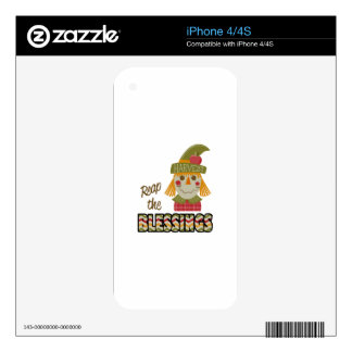 Reap The Blessings Decal For iPhone 4