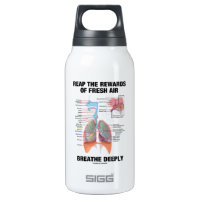 Reap The Rewards Of Fresh Air Breathe Deeply 10 Oz Insulated SIGG Thermos Water Bottle