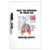 Reap The Rewards Of Fresh Air Breathe Deeply Dry-Erase Whiteboard