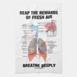 Reap The Rewards Of Fresh Air Breathe Deeply Hand Towels
