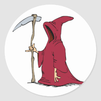 Reaper Drawing Classic Round Sticker