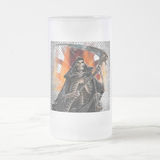 Reaper - Frosted Glass Stein Mugs