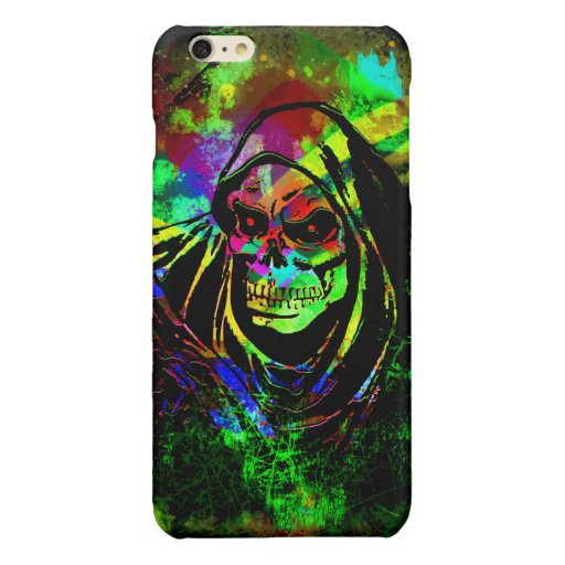 Reaper Grunge Glossy iPhone 6 Plus Case