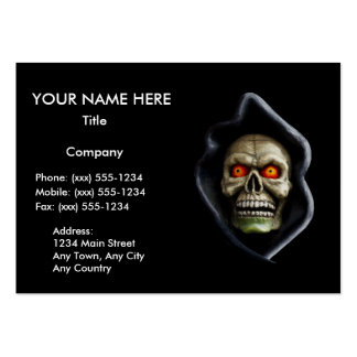 REAPER (Halloween skull design) ~ Large Business Cards (Pack Of 100)