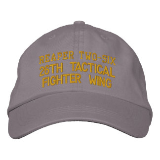 Reaper Two-Six Fighter Wing Design Cap Embroidered Hats