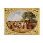 Reapers, 1795 (enamel on biscuit earthenw postcard