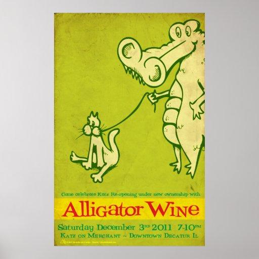 Reapertura de Katz del vino del cocodrilo Póster