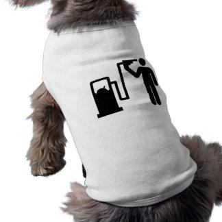 Reaprovisionamiento de combustible por la vez últi playera sin mangas para perro