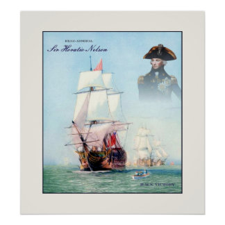Rear-Admiral Sir Horatio Nelson ~ Vintage Fine Art Poster