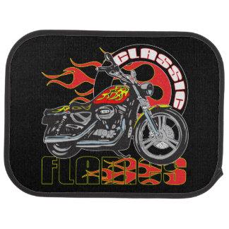 Rear Mats Vintage Classic Flame Paint Motorcycle