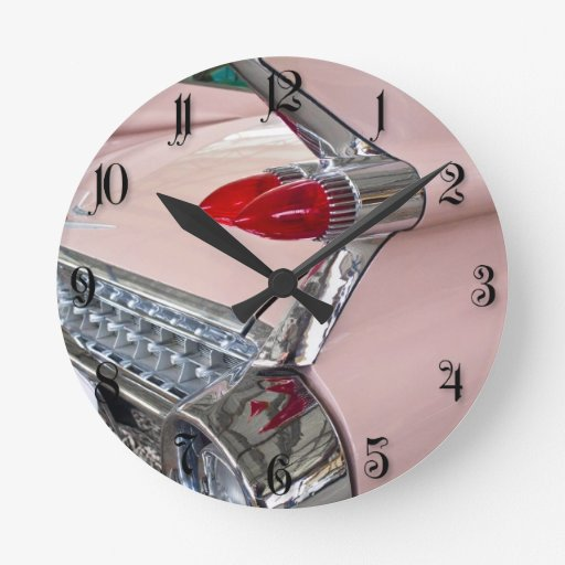 Rear of Cadillac Sedan de Ville Round Wall Clock