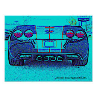 "Rear of Corvette Grand Sport 32"" x 24"", Poster"