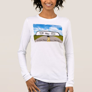 Rear View Mirror Ladies Long Sleeve (Fitted) Long Sleeve T-Shirt