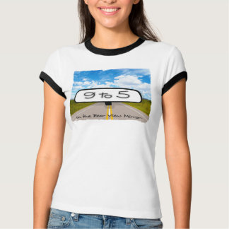 Rear View Mirror Ladies Ringer T-Shirt