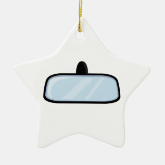 Rear View Mirror Double-Sided Star Ceramic Christmas Ornament