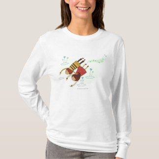 Rear view of a couple flying together T-Shirt
