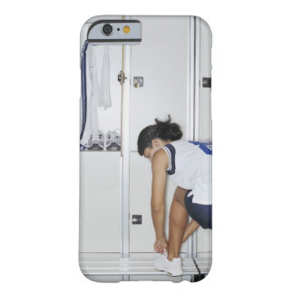 Rear View of a Female Volleyball Player Tying Barely There iPhone 6 Case