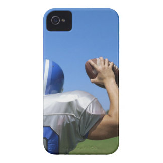 rear view of a football player throwing a iPhone 4 cover