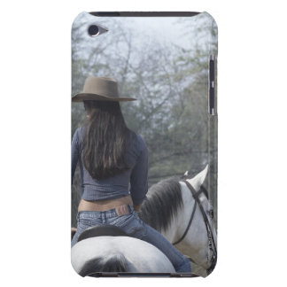 Rear view of a woman riding a horse iPod touch Case-Mate case