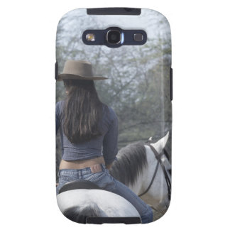 Rear view of a woman riding a horse samsung galaxy SIII cover