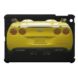 Rear View of a yellow custom corvette iPad Mini Cases