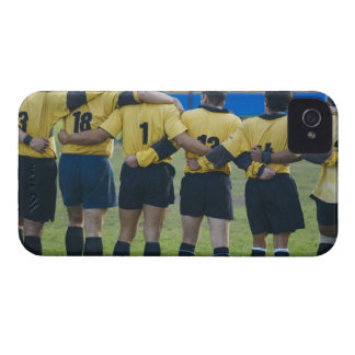 Rear view of rugby team standing with their arms iPhone 4 Case-Mate case