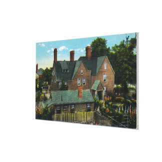 Rear View of the House of Seven Gables Stretched Canvas Prints