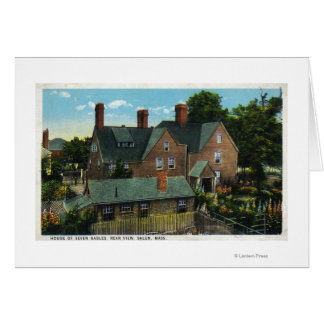 Rear View of the House of Seven Gables Card