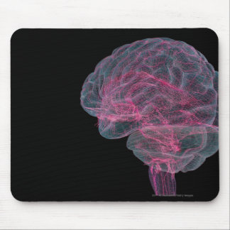 Rear view of the human brain mouse pad