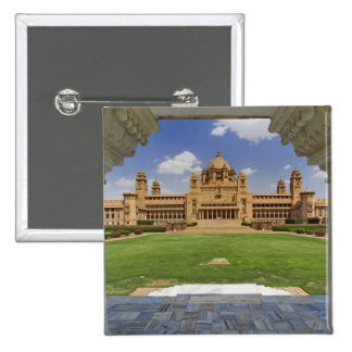 Rear view of Umaid Bhawan Palace hotel, Jodjpur, Pinback Button