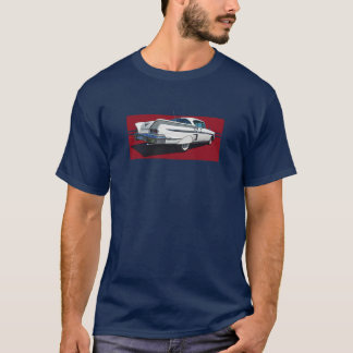 Rear view of white 1958 Chevy Impala T-Shirt
