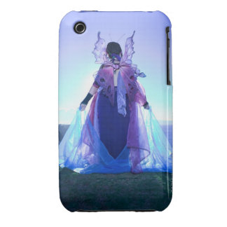 Rear view of woman wearing fairy costume iPhone 3 case