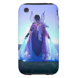 Rear view of woman wearing fairy costume tough iPhone 3 case