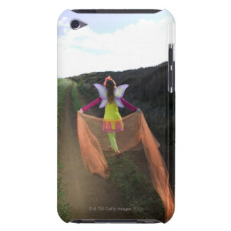 Rear view of woman wearing fairy costume walking barely there iPod case