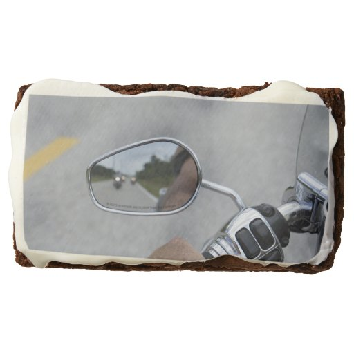 Motorcycle Rear View Mirror Frosted Brownie