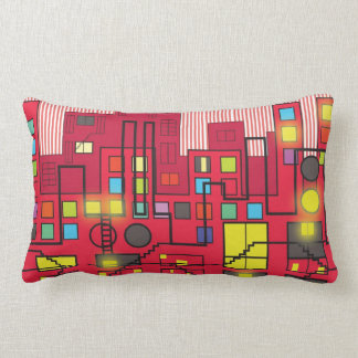 Rear Window neighborhood view Throw Pillow