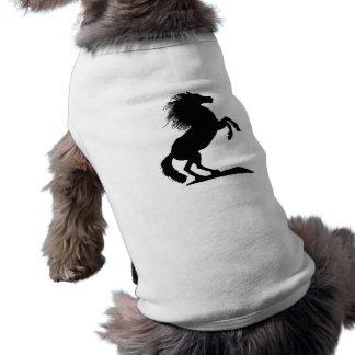 Rearing Black Stallion - Pet Tee Shirt