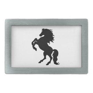Rearing Black Stallion / Horse Belt Buckle